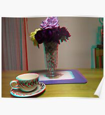 floating cup and saucer Poster