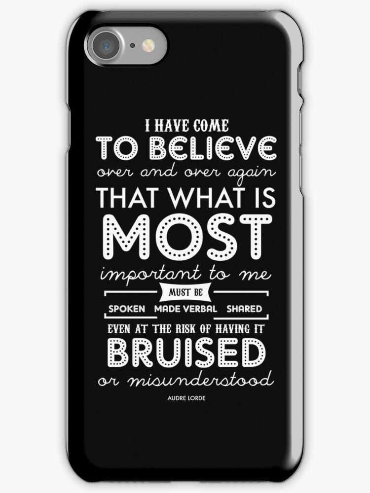 Audre Lorde phone case by sarahkerton