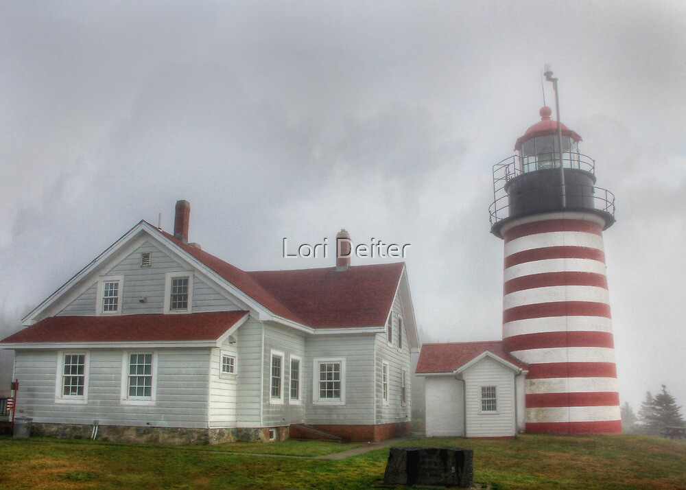 West Quoddy Head Lighthouse by Lori Deiter