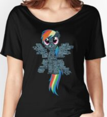 I am a brony because... Women's Relaxed Fit T-Shirt
