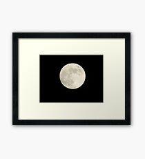 Humid Full Moon  Framed Print