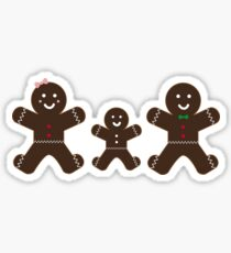 Gingerbread family Sticker