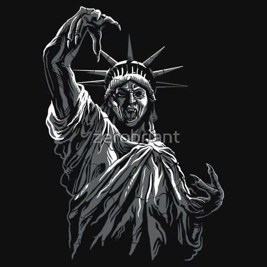 is a cross between the Statue of Liberty and a  quot Weeping Angel quot  statue    Weeping Angel Statue Of Liberty