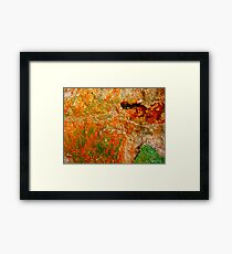 """Green and Orange Abstract"" Framed Print"