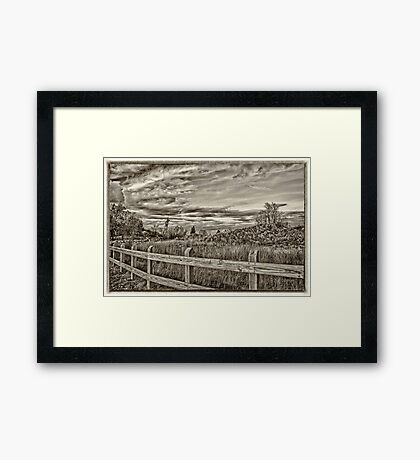 Along Midwestern Byways Framed Print