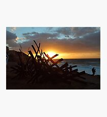 Sculptures By The Sea Sunrise Photographic Print