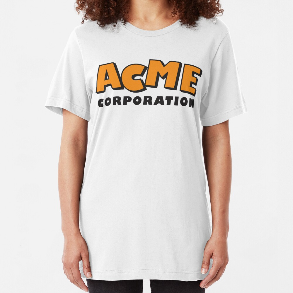ACME corporation (orange) Slim Fit T-Shirt