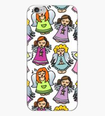 singing angels on white iPhone Case