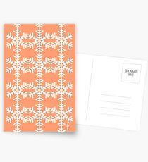 Snowflake Pattern Postcards