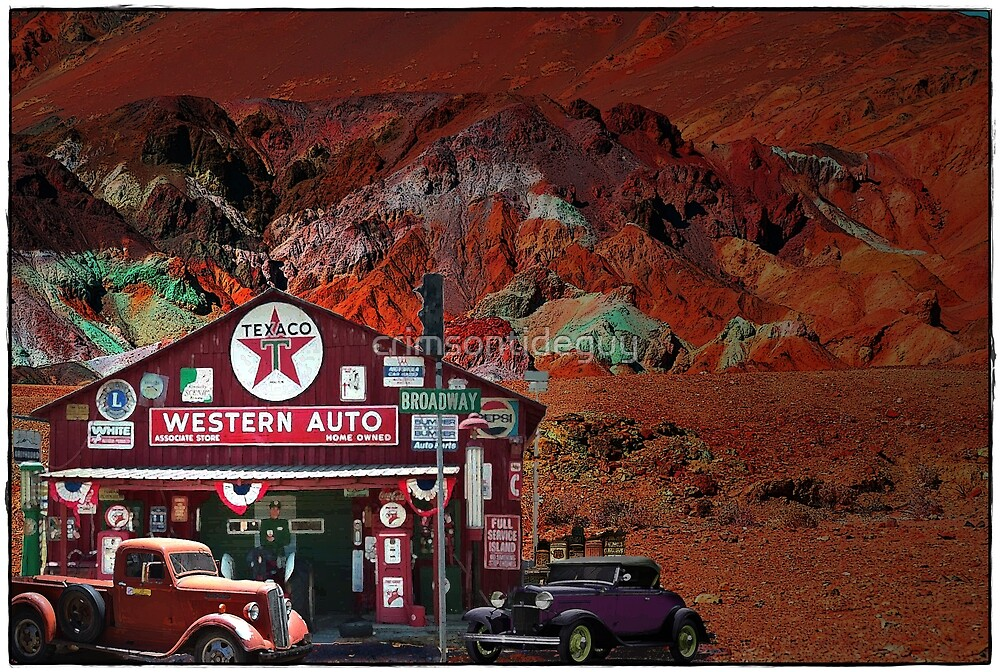 Western Auto In Death Valley by crimsontideguy