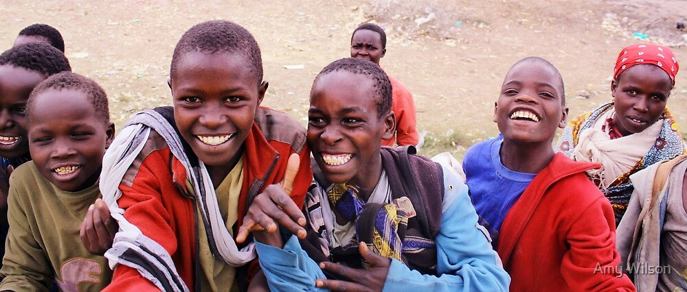 Kenyan boys by Amy Wilson