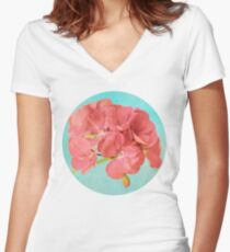 Sweet and Simple Women's Fitted V-Neck T-Shirt