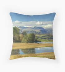 Wise Een Tarn & The Southern Fells Throw Pillow