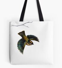 Golden-Crowned Kinglet on White Tote Bag