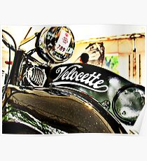 Velocette M Series vintage motorcycle Poster