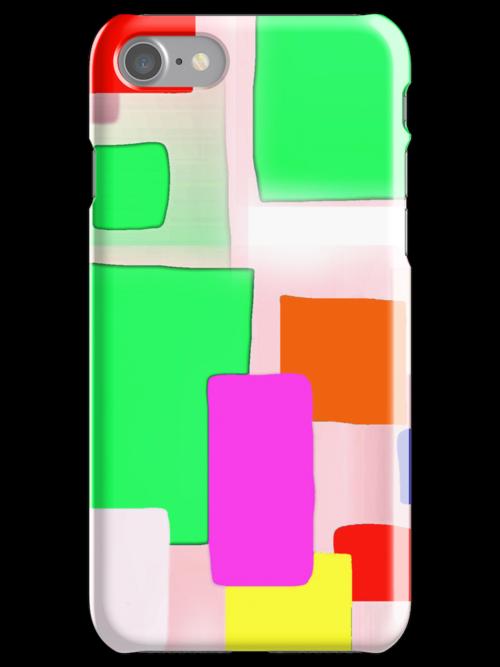 Pale green block PHONE CASE/MATCHING TEES by Shoshonan