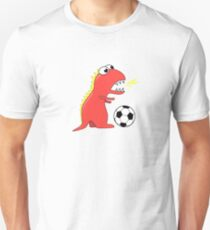 Funny Cartoon Dinosaur Soccer Shirt Unisex T-Shirt