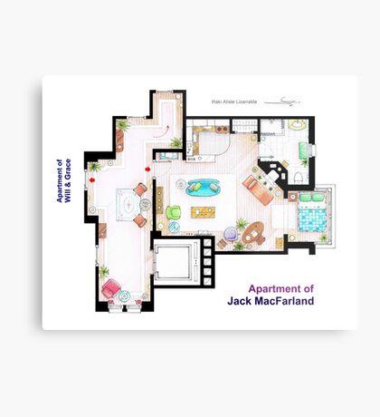 "Jack MacFarland's apartment from ""Will & Grace"" Metal Print"