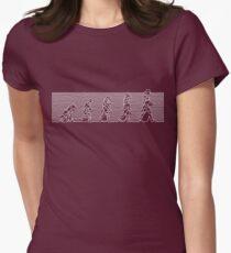99 Steps of Progress - Post-punk Womens Fitted T-Shirt