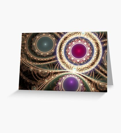 Gems & Gold Greeting Card