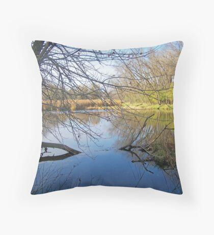 Cattail Marsh Throw Pillow