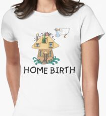 Home Birth Womens Fitted T-Shirt