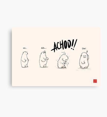 Achoo!! Canvas Print