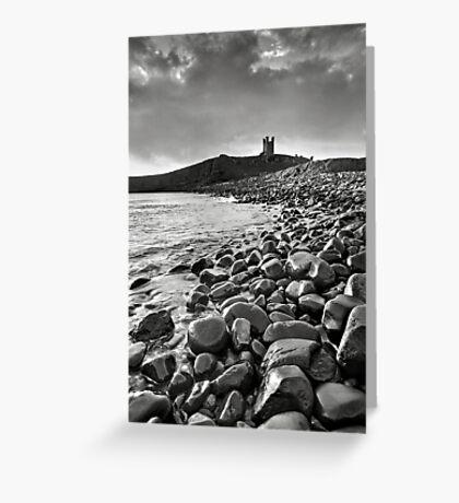 Dunstanburgh Castle - Mono Greeting Card
