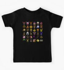Multiple characters (New set) - Five Nights at Freddy's - Pixel art  Kids Tee