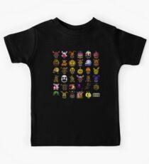 Multiple characters (New set) - Five Nights at Freddy's - Pixel art  Kids Tee