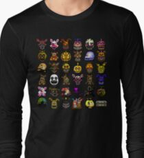 Multiple characters (New set) - Five Nights at Freddy's - Pixel art  Long Sleeve T-Shirt