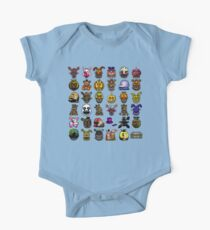 Multiple characters (New set) - Five Nights at Freddy's - Pixel art  One Piece - Short Sleeve