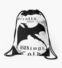 Black Wings In The Cold Drawstring Bag