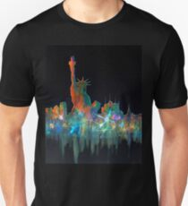 Liberty And New York Skyline Unisex T-Shirt