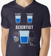 Optimist... pessimist... SCIENTIST! Men's V-Neck T-Shirt