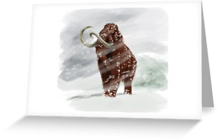 Mammuthus primigenius (Wooly Mammoth) by A V S TURNER
