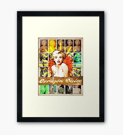 Icons: Miss Dulce Corazón Framed Print