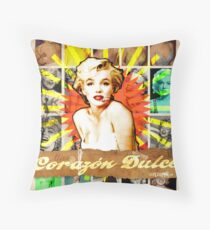 Icons: Miss Dulce Corazón Throw Pillow