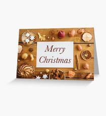 Christmas decoration on wood Greeting Card