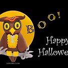 Boo! Happy Owl-o-ween! by curlyorli