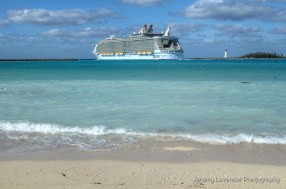 "The giant ""Allure Of The Seas"" leaving Nassau Harbour in The Bahamas by Jeremy Lavender Photography"