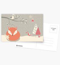 Christmas baby fox 06 Postcards