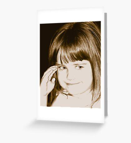 High-Key Cuteness Greeting Card