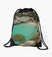 The little cove of Macarelleta   Drawstring Bag