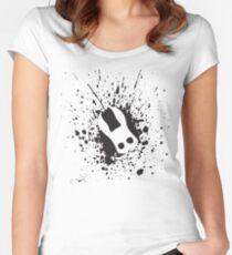 Splicer Mask (Bioshock Splatter Series) Women's Fitted Scoop T-Shirt