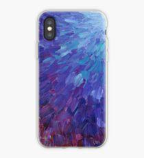 Vinilo o funda para iPhone ESCALAS DE UN COLOR DIFERENTE - Pintura de acrílico abstracta Escamas de mar de la berenjena Olas del océano coloridas