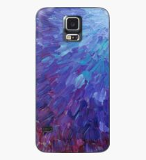 Funda/vinilo para Samsung Galaxy ESCALAS DE UN COLOR DIFERENTE - Pintura de acrílico abstracta Escamas de mar de la berenjena Olas del océano coloridas