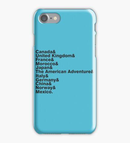 The World Showcase iPhone Case/Skin