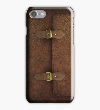 Brown Leather Satchel iPhone Case/Skin