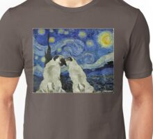 Starry Night Pugs Unisex T-Shirt